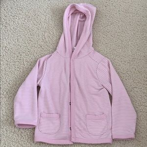 Old Navy pink and white stripe sweater